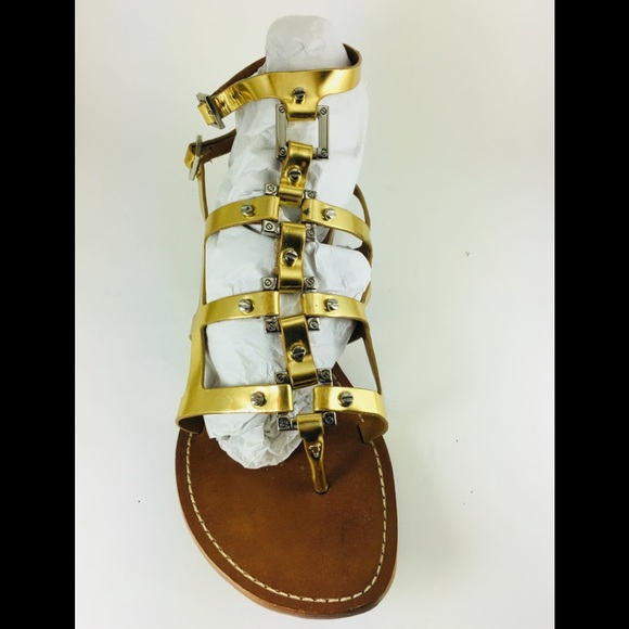 997397078b00 Tory Burch Shoes - Tory Burch Metallic Gold Gladiator Sandals Size 10